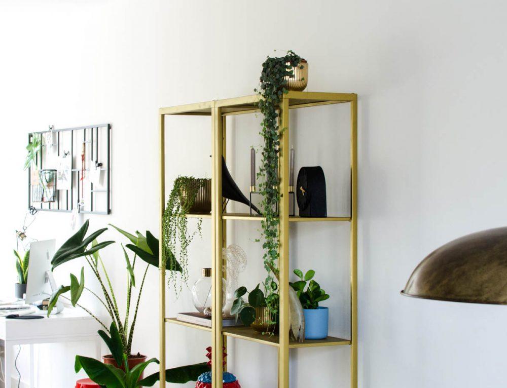 Ikea hack: Vittsjö kast van basic wit naar chique goud