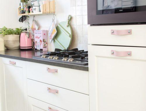 Keuken mini make-over met leren handgrepen