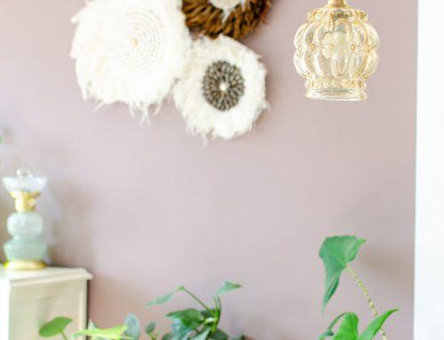 Stappenplan vintage lampenkapje ophangen