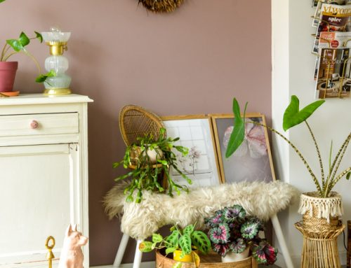 3 roze vintage aankopen (met o.a. een marmeren salontafel)
