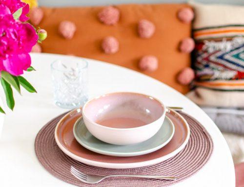 New in: roze en groen servies van de Hema