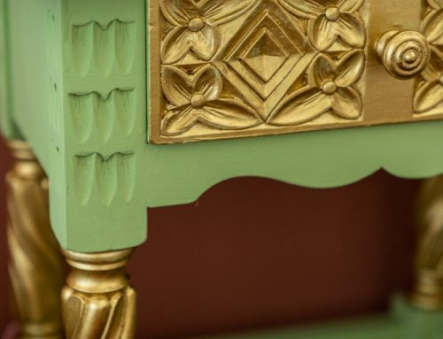 Nachtkastje pimpen: groen met goud