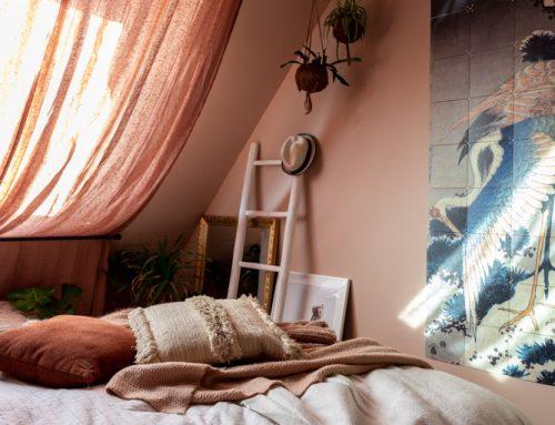 Gordijnen voor een dakraam (budget slaapkamer make-over deel 2)