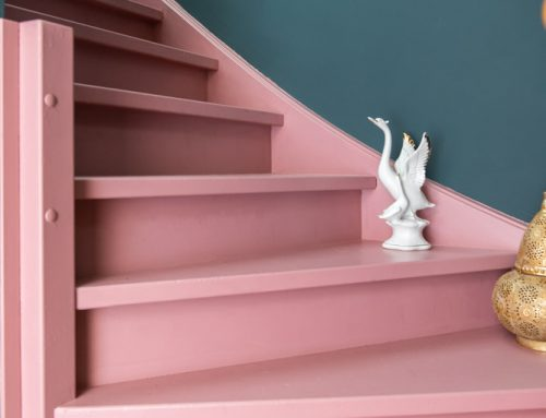 De trap roze verven met Histor trapverf