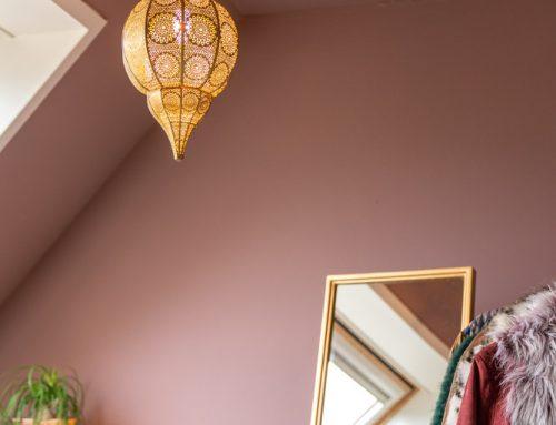 Kijkje in mijn werkkamer: roze met een Oosters detail