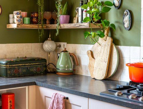 Eikenhouten wandplanken in de keuken